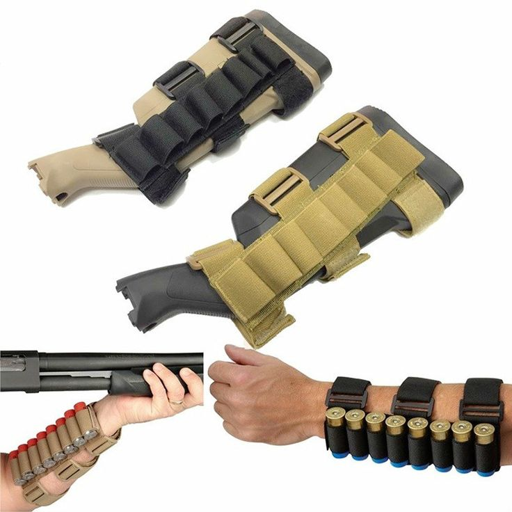 Tactical 8 Round Shotgun Shell Holder Airsoft military army MOLLE Gear Nylon Carrier Arm Band Bullet Pouches For Hunting Games