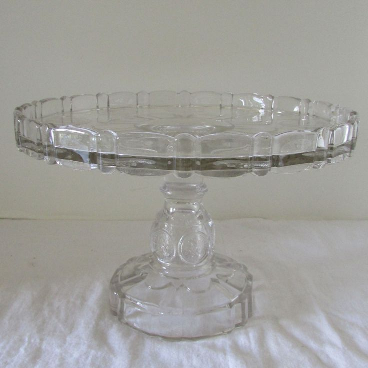Early American Pattern Glass Cake Stands