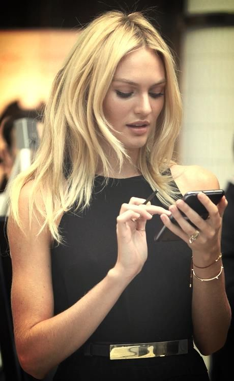 Candice swanepoel haircut layers