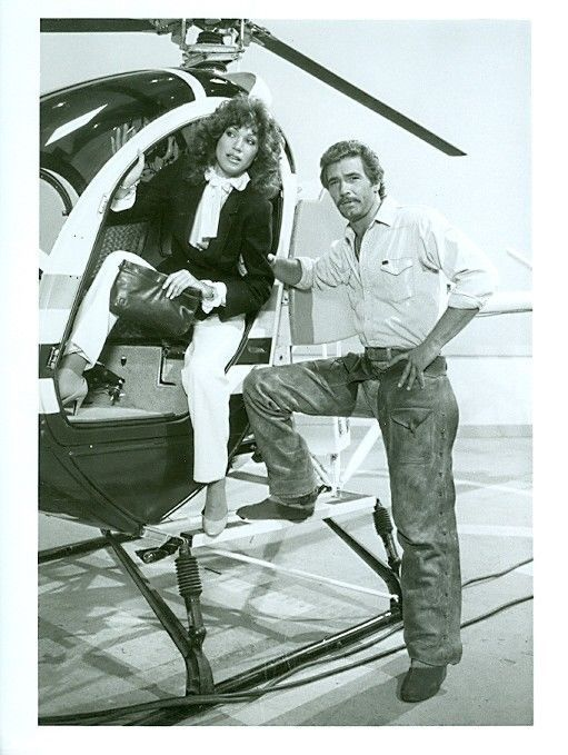 lee horsley young 1960 | Lee Horsley Pamela Hensley Matt Houston Helicopter Original 1984 ABC ...