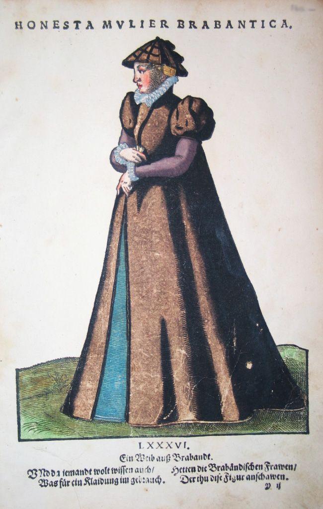 Jost Amman für Hans Weigel - BRABANT: Honesta Mulier Brabantica. Ein Weib auß Brabandt 1577