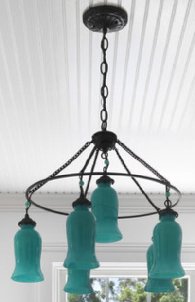 lighting aquatealturquoise chandelier - Turquoise Chandelier Light