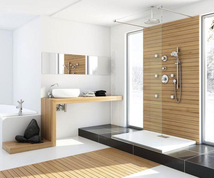 Геометрия во всем Строгость и прямолинейность форм приносит в нашу жизнь четкость и определенность. Ванная комната в современном стиле - воплощение красоты и удобства . http://santehnika-tut.ru/ #дизайн #интерьер #стиль #ванная #сантехника #плитка