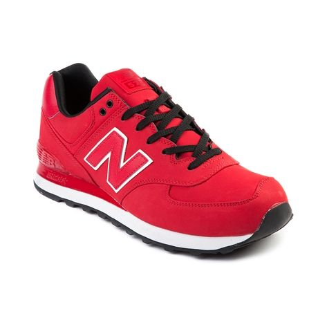 Mens New Balance ML 574 Athletic Shoe, Red Monochrome | Journeys Shoes