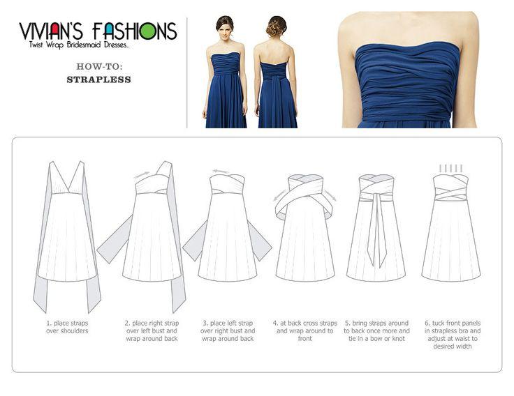 convertible wrap dress instructions