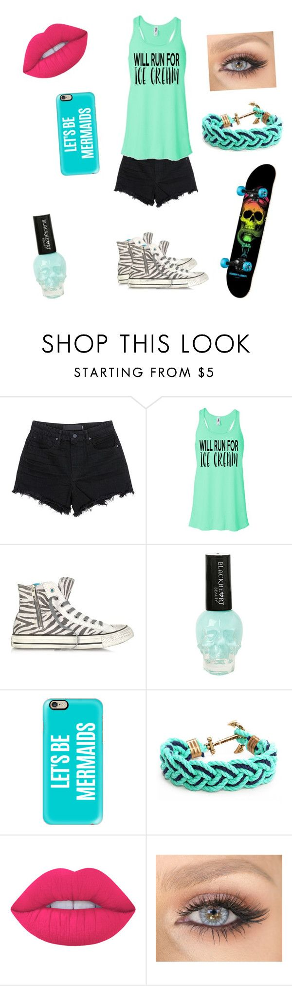 """""""Summer Party"""" by destiny-ellis-1 on Polyvore featuring Alexander Wang, Converse, Casetify, Kiel James Patrick, Lime Crime and Summer"""