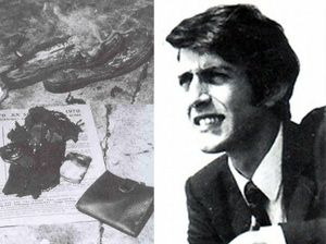 Kostas Georgakis was a Greek student and a member of the Center Union party, since 1968. In July 1970, he anonymously released an interview to a newspaper, in which he revealed the military junta's intelligence infiltration of the Greek students' movements in Italy. fearing for his family in Greece,. Georgakis set himself ablaze in Matteotti square, in Genoa, to protest against the dictatorial regime of Georgios Papadopoulos.