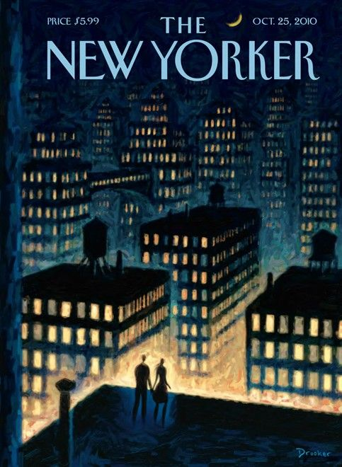 "The New Yorker cover ""Twilight"" by Eric Drooker,  Oct. 25, 2010"