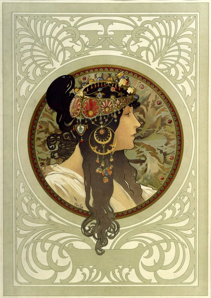 90 best images about alphonse mucha art nouveau and art deco style headdresses on pinterest. Black Bedroom Furniture Sets. Home Design Ideas