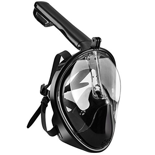 OMorc Snorkel Mask 180° Seaview GoPro Compatible Diving Mask, Panoramic Full Face Design with Anti-Fog and Anti-Leak Technology, See More Water World with Larger Viewing Area for Men - http://scuba.megainfohouse.com/omorc-snorkel-mask-180-seaview-gopro-compatible-diving-mask-panoramic-full-face-design-with-anti-fog-and-anti-leak-technology-see-more-water-world-with-larger-viewing-area-for-men/