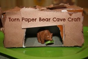 Torn Paper Bear Cave Craft - use with bear or hibernation theme unit