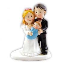Paar mit Baby zu Hochzeit oder Taufe ca.8 cm CakeCompany Facebook :  https://www.facebook.com/CakeCompany.de/  Cake Company YouTube :  https://www.youtube.com/channel/UCThePxCjX-2zr4zCmXheVtw