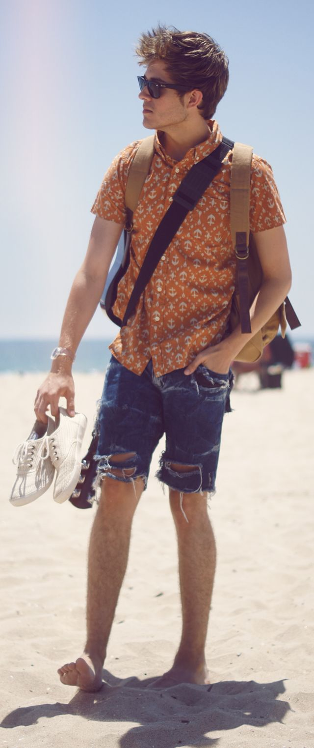 """Adam of """"I Am Galla"""" sporting UO's anchor button up #urbanoutfitters #buttonup #anchor"""