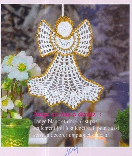 Crochet Angel Baptism Gift Christmas Lace Angel Ornament Tree: 79 Best Images About Crochet Angels On Pinterest