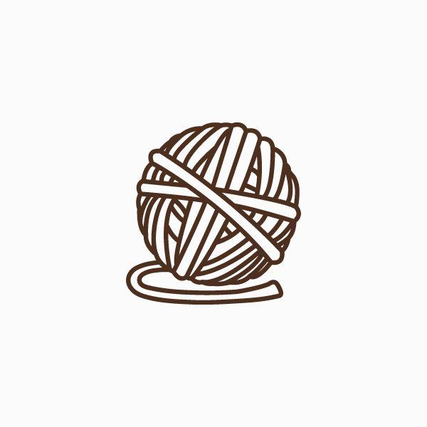 Ball Of Yarn Thin Line Icon Tadmint Yarn Handmade Logo Line Icon