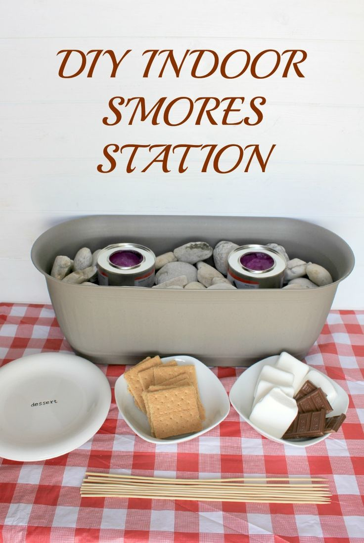 DIY Indoor S'mores Station #LetsMakeSmores #ad @walmart