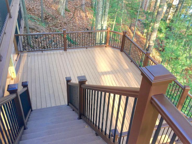 Die besten 25+ Trex railing Ideen auf Pinterest Deck geländer - terrassen gelander design
