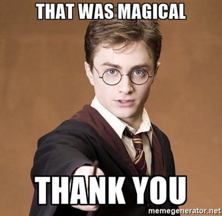 101 Funny Thank You Memes To Say Thanks For A Job Well Done Harry Potter Birthday Meme Thank You Memes Happy Birthday Harry Potter