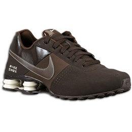 brown leather nike shox