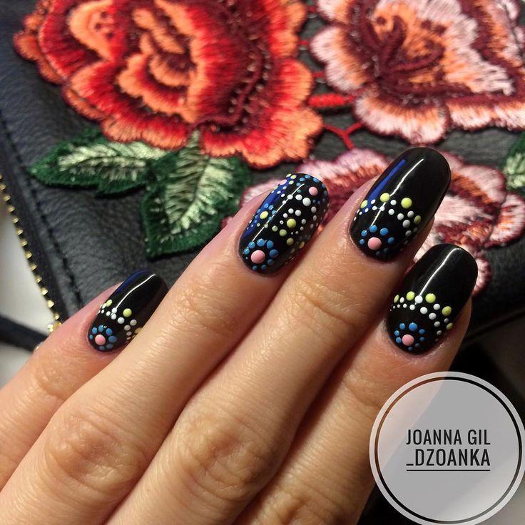 """Polubienia: 168, komentarze: 2 – Joanna Gil (@_dzoanka) na Instagramie: """"Dots @indigonails #indigo #indigolove #indigonails #indigolicious #nails #nailart #nailholic…"""""""