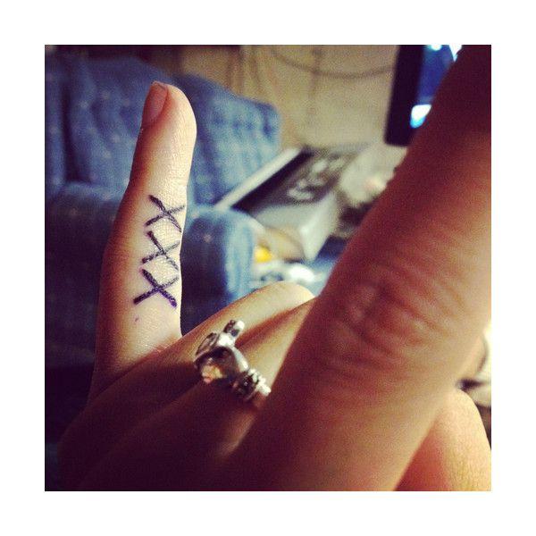 straight edge tattoo   Tumblr ❤ liked on Polyvore featuring tattoos