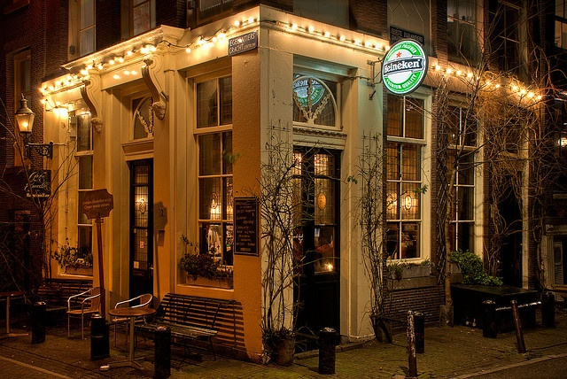 Cafe 't Smalle (The Small). My favourite bar in Amsterdam.  It's in the Jordaan district.