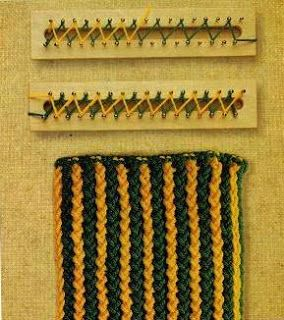 Rectangular Loom Knitting Patterns : Puntadas en el Telar Rectangular Telares Cachicadan telar rectangular P...