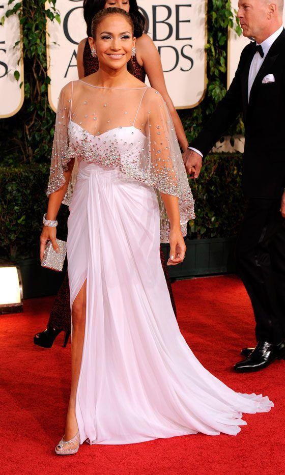 Jennifer Lopez Wearing Zuhair Muhad At The Golden Globe Awards, 2011