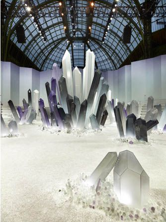 chanel fall/winter 2012 runway set at the grand palais in paris. wow this looks amazing.