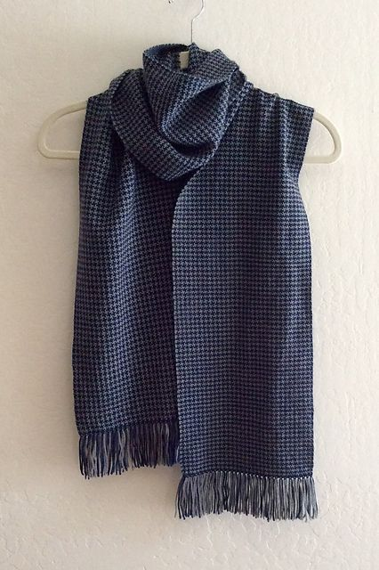 Knitting Pattern For Houndstooth Scarf : From Ravelry: CalculatedKnits