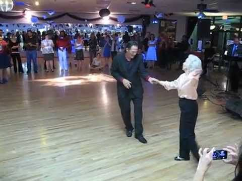 90 year old woman walks onto the dance floor but no one expected this... - YouTube