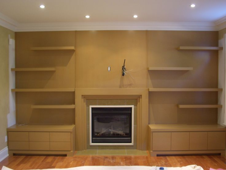 Modern wall unit in a Toronto home