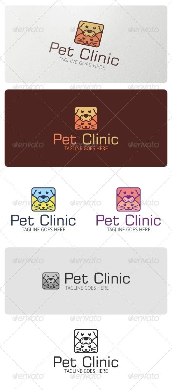 Pet Clinic Logo Template — Vector EPS #dog #products • Available here → https://graphicriver.net/item/pet-clinic-logo-template/4531194?ref=pxcr