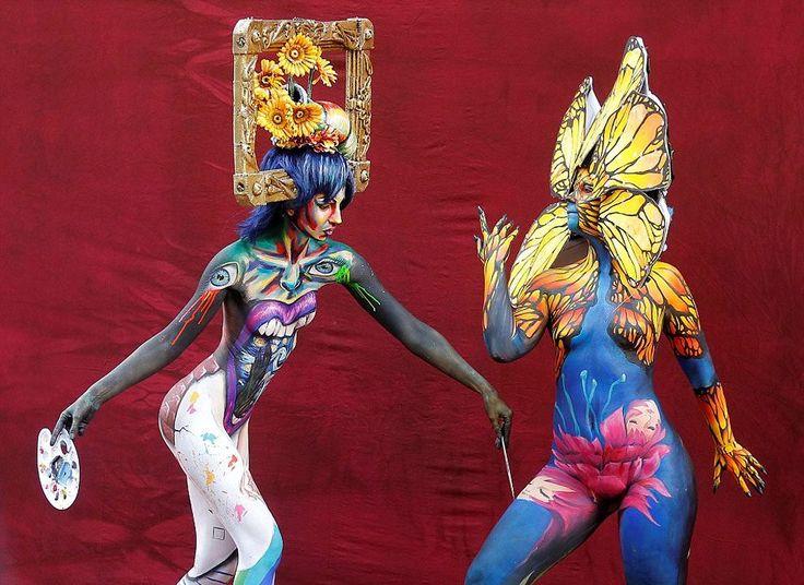 World Bodypainting Festival Models Turn Themselves Into Living Art Work In Austria