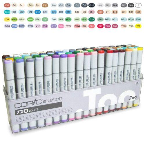 Marcador  Copic Marker Sketch B 72 Cores Comprar - > http://www.desenhoepintura.com.br/categoria-produto/copic-markers/