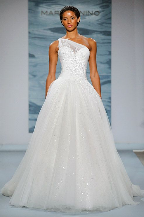 25 Best Ideas About One Shoulder Wedding Dress On Pinterest Mark Zunino M
