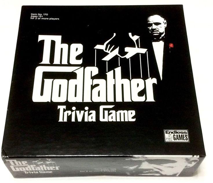 The Godfather Trivia Game Endless Games 2008 Mafia Marlon Brando