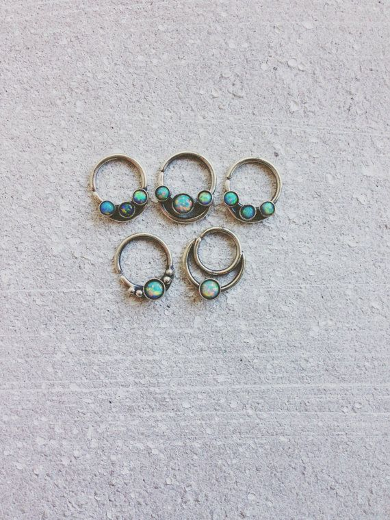 Opal Septum Ring // Ornate Septum Ring // by BearandtheAdelaide
