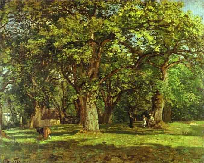 The Forest, 1870			-Camille Pissarro - by style - Impressionism