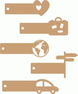 Silhouette Design Store - View Design #86736: travel labels set