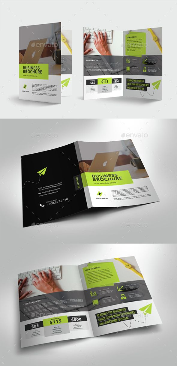 Multipurpose Business Bifold Brochure — PSD Template • Download ➝…