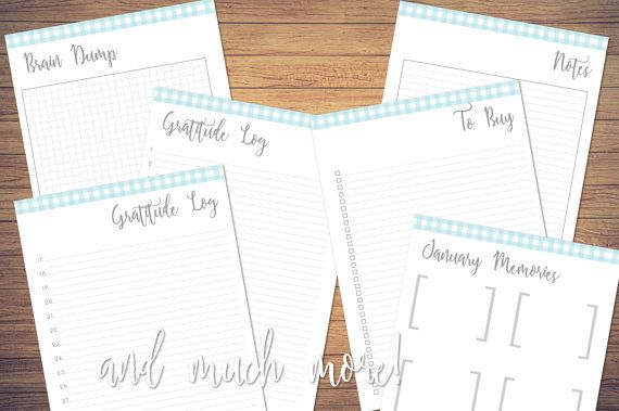 January 2017 Planner Inserts with dated weekly by TheLadyAndTheInk