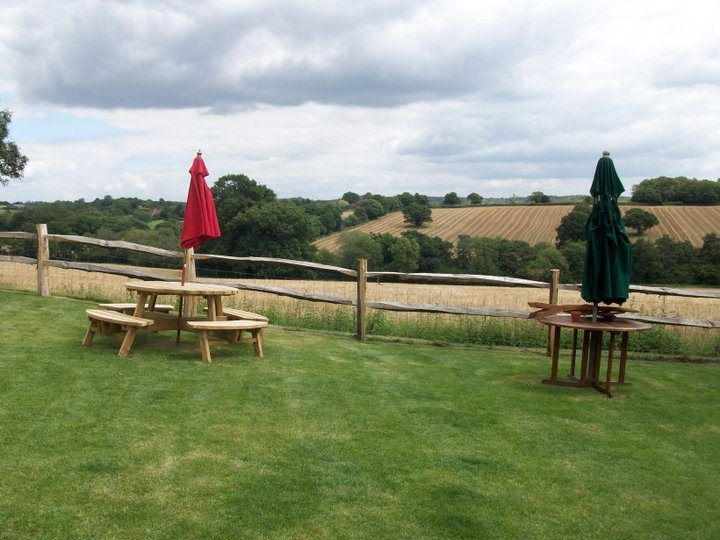 Views from the pub garden at The Black Duck