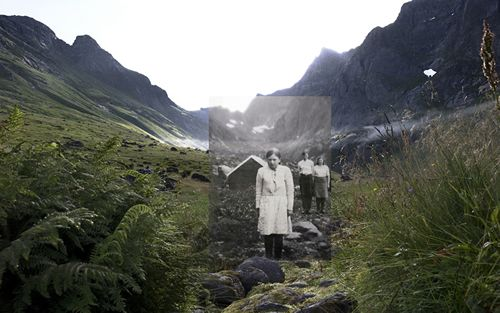 Edle, Anne and Fredrik were the last generation growing up in Hermannsdalen. From November until April the family lived completely isolated. When Edle was eight years old, her grandfather took her and her sister Anne to the top of the mountain. From there, they could look down on their neighbours in the village Vinstad. She had never seen other houses before. hebe robinson, pre1950s-2010s