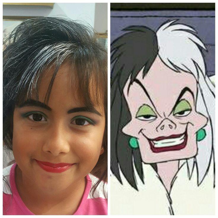#CruelladeVil #Disney #movie #dalmatian #character #fun #costume #halloween #kids #makeup #kryolan #Aquacolor #dermacolor #creamliner