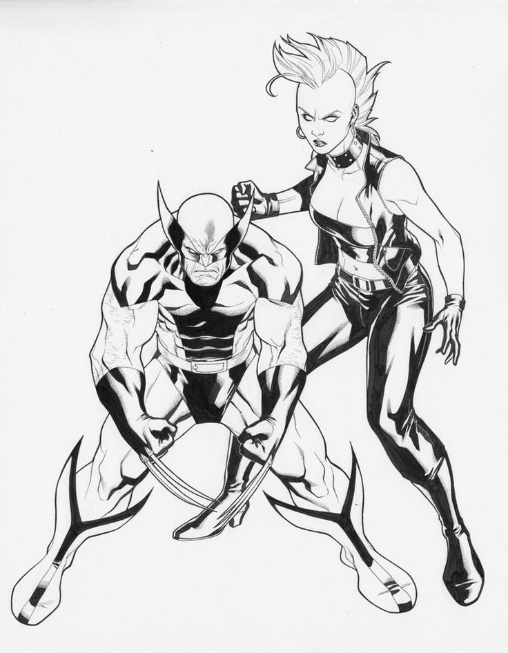 Wolverine and Storm by ~Clayton-Henry on deviantART