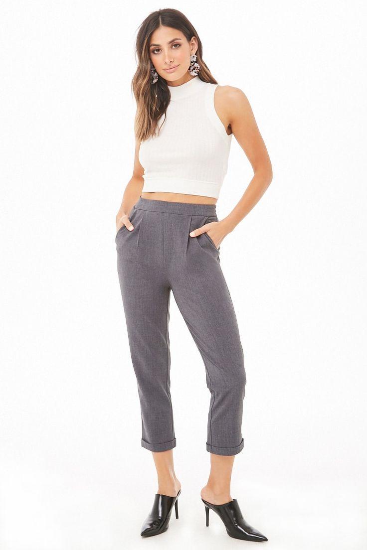 Cuffed straightleg pants forever 21 straight leg