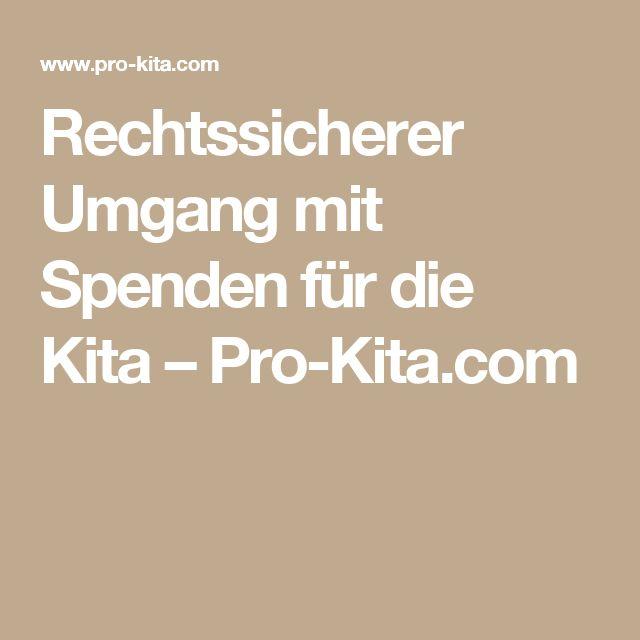 Rechtssicherer Umgang mit Spenden für die Kita – Pro-Kita.com