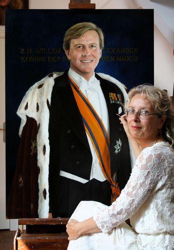 Staatsieportret Koning Willem-Alexander door Liseth Visser #schilderij