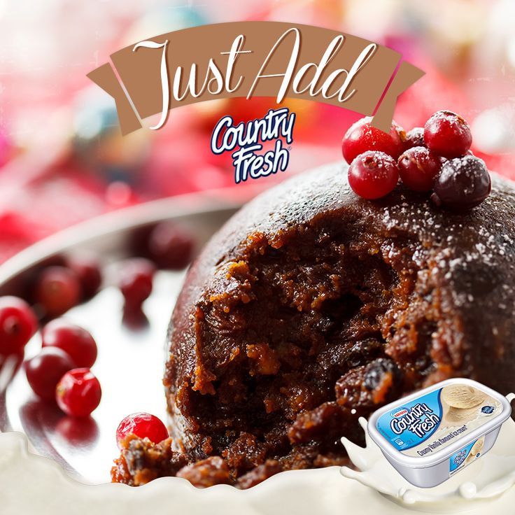 Christmas is around the corner! Have you got your Christmas Pudding sorted? You know which ice cream to add wink emoticon #JustAddCountryFresh